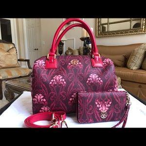 TORY BURCH Floral SHOULDER BAG Handbag & WALLET